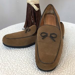 LAND'S END Brown Suede Loafers Flats